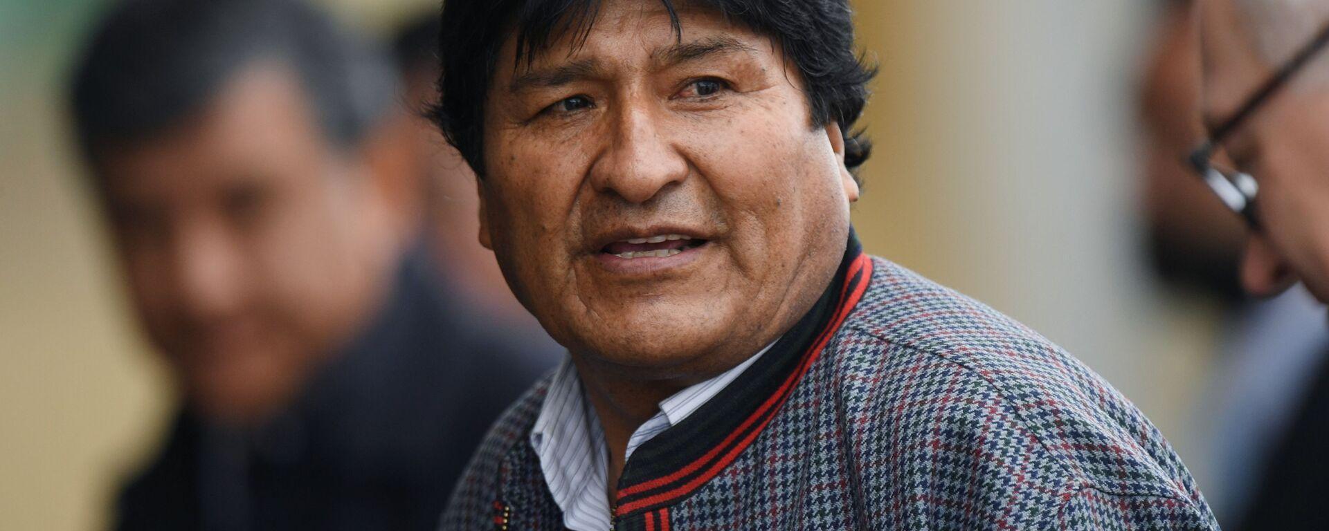 Evo Morales, presidente boliviano  - Sputnik Mundo, 1920, 26.04.2021