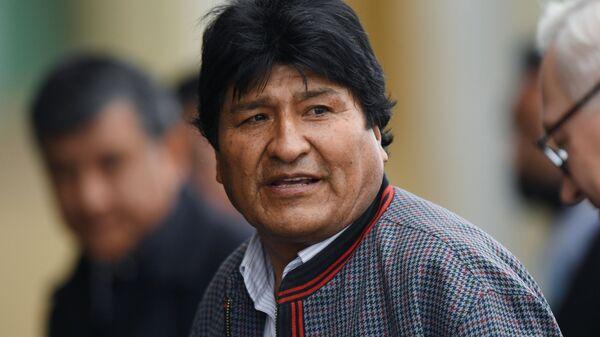 Evo Morales, presidente boliviano  - Sputnik Mundo