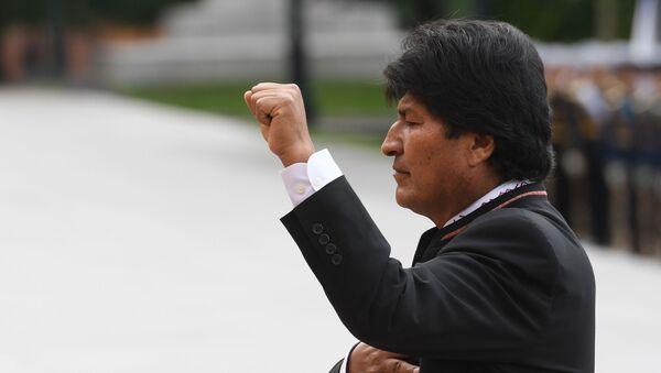 Evo Morales durante su visita a Moscú   - Sputnik Mundo