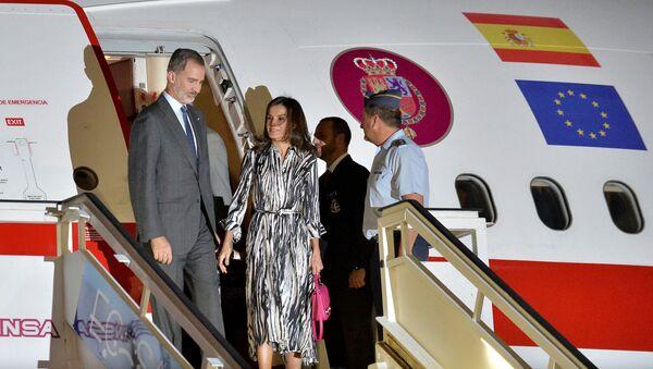 Los monarcas de España, Felipe VI y Letizia, arriban a Cuba - Sputnik Mundo