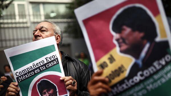 Los partidarios del expresidente boliviano en la Ciudad de México - Sputnik Mundo
