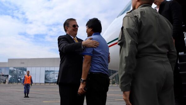 La llegada del expresidente Evo Morales a México - Sputnik Mundo