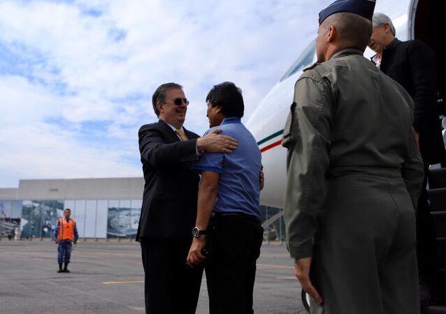 La llegada del expresidente Evo Morales a México