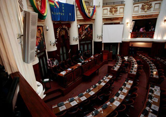 La primera sesión parlamentaria para sucesión presidencial en Bolivia