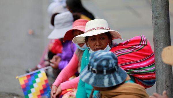 Los indígenas protestan en La Paz, Bolivia - Sputnik Mundo