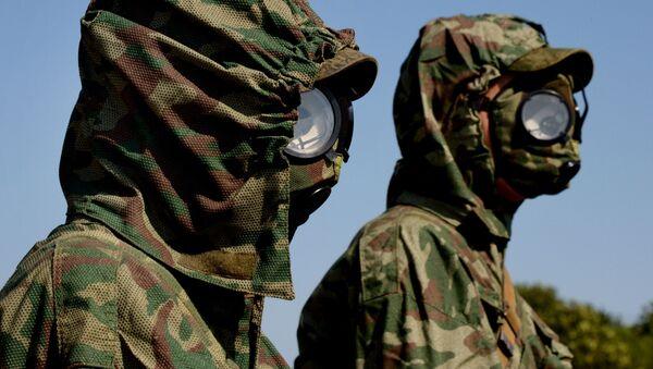 Militares de las Tropas de Defensa Radiológica, Química y Biológica de Rusia - Sputnik Mundo