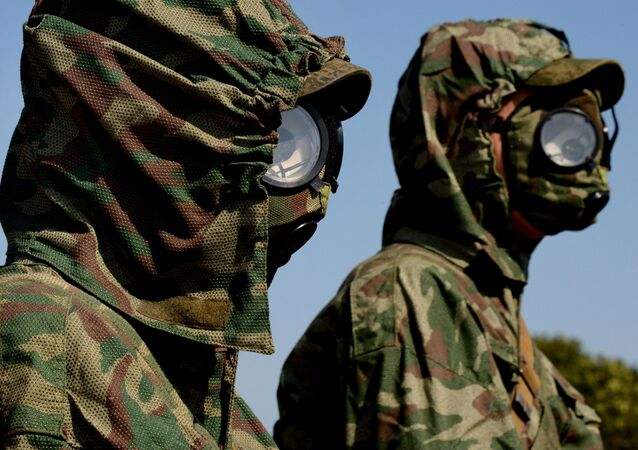 Militares de las Tropas de Defensa Radiológica, Química y Biológica de Rusia