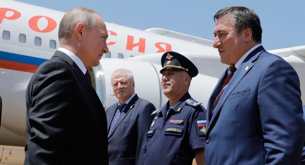 El presidente de Rusia, Vladímir Putin, arriba a Brasil