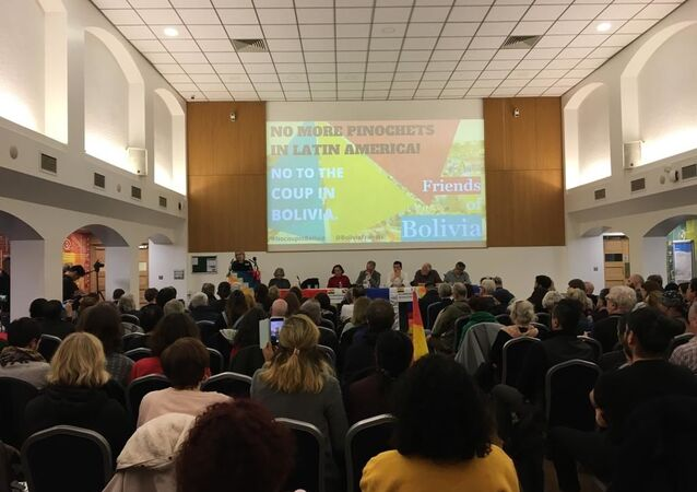 Encuentro en apoyo de Evo Morales en Londres