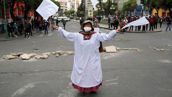 Protestas en Bolivia - Sputnik Mundo