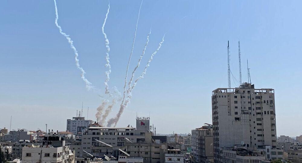 Lanzamientos de cohetes desde Gaza hacia Israel