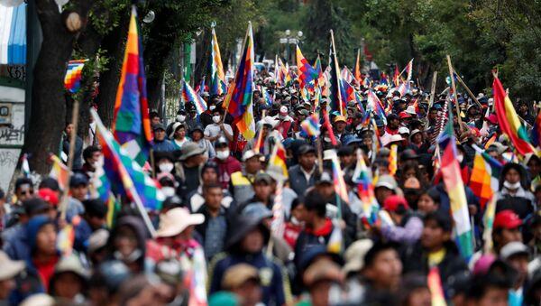 Las protestas en Bolivia - Sputnik Mundo