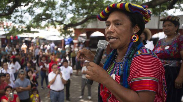 Thelma Cabrera, dirigente del pueblo maya mam - Sputnik Mundo