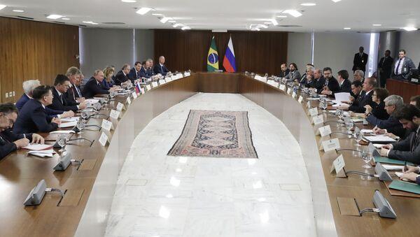 Encuentro entre Vladímir Putin y Jair Bolsonaro - Sputnik Mundo