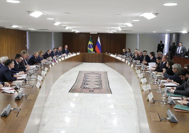 Encuentro entre Vladímir Putin y Jair Bolsonaro