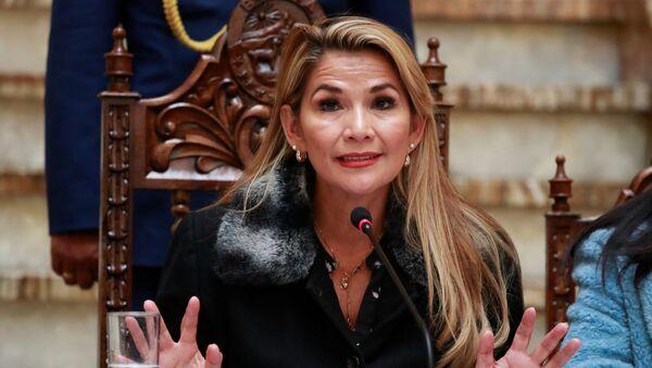 Jeanine Áñez, presidenta de facto de Bolivia (archivo) - Sputnik Mundo