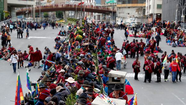 Las de los partidar protestas en Bolivia - Sputnik Mundo
