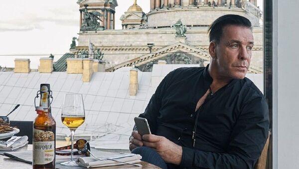 Till Lindemann, líder del grupo Rammstein - Sputnik Mundo