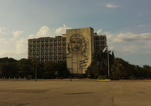 Sede del Ministerio del Interior y Plaza de la Revolución en La Habana, Cuba