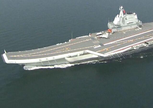 El portaviones chino Tipo 001A cruzó el estrecho de Taiwán sin ningún objetivo específico