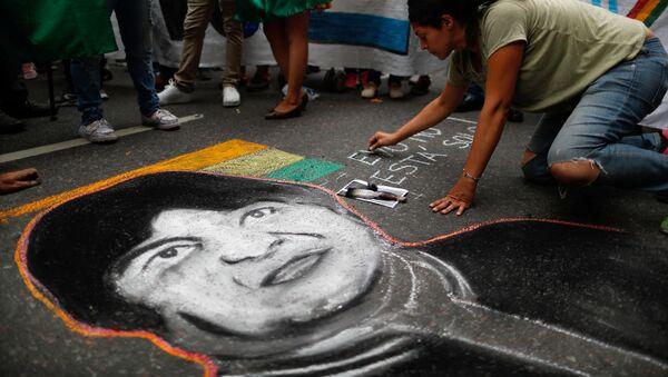 Manifestación en Buenos Aires en apoyo a Evo Morales - Sputnik Mundo