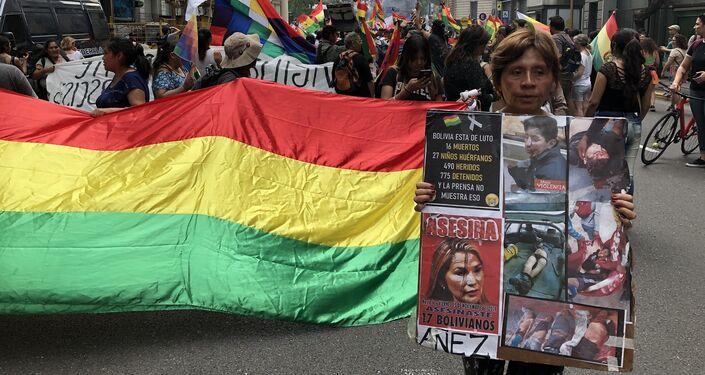 Manifestantes denunciaron los muertos por la represión en Bolivia
