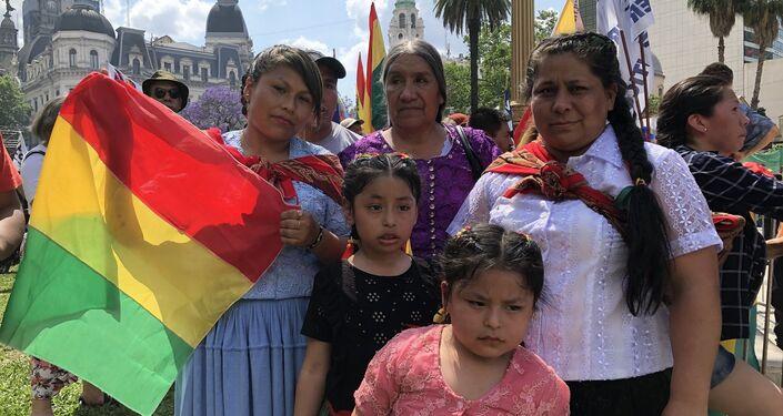 Niños y niñas también participaron de la marcha en Buenos Aires