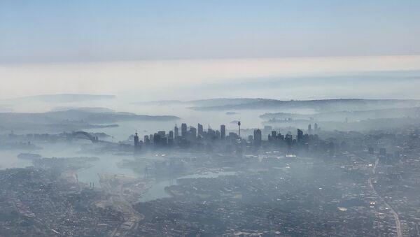 Humo de los incendios forestales cubre Sídney, Australia - Sputnik Mundo