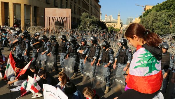 Protestas en Líbano - Sputnik Mundo