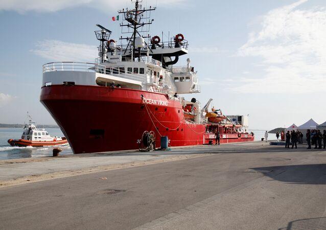 El barco Ocean Viking