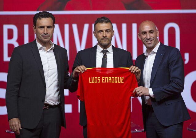 Luis Enrique en su presentación como el entrenador de la selección española (archivo)