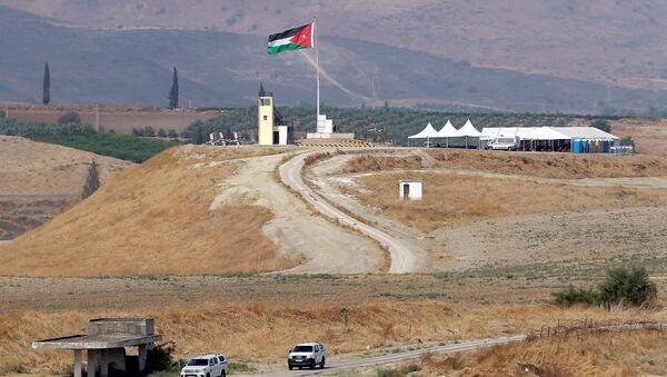 La bandera de Palestina en el Valle del Jordán - Sputnik Mundo