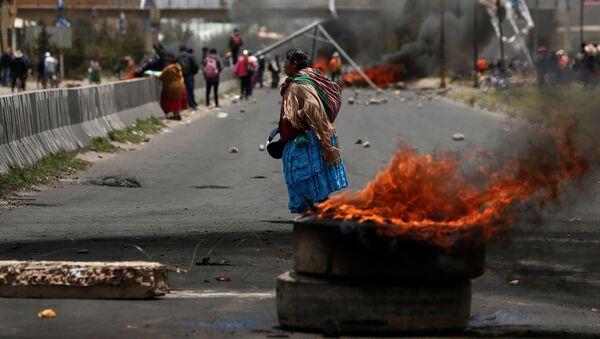 Las protestas en la ciudad de El Alto en Bolivia - Sputnik Mundo