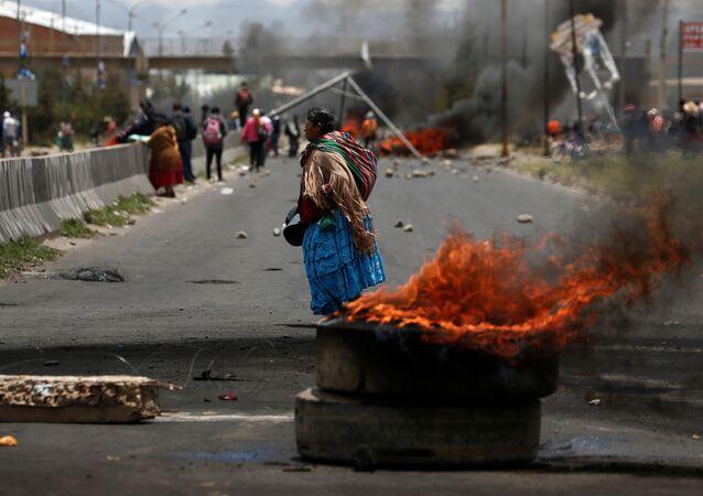 Las protestas en la ciudad de El Alto en Bolivia