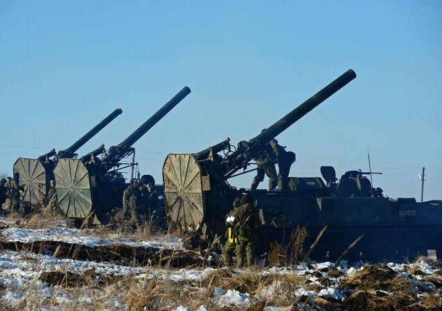 Morteros rusos Tiulpan (Tulipán) 2S4