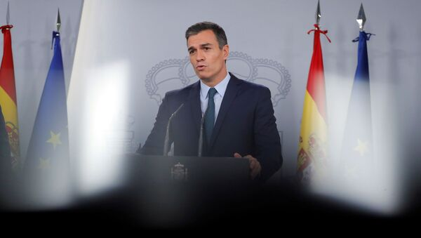 Pedro Sánchez, presidente del Gobierno español en funciones  - Sputnik Mundo