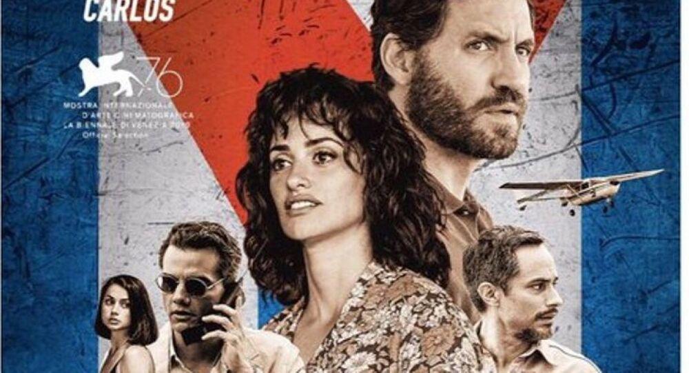 Poster de la película 'Red Avispa' sobre los cinco espías cubanos