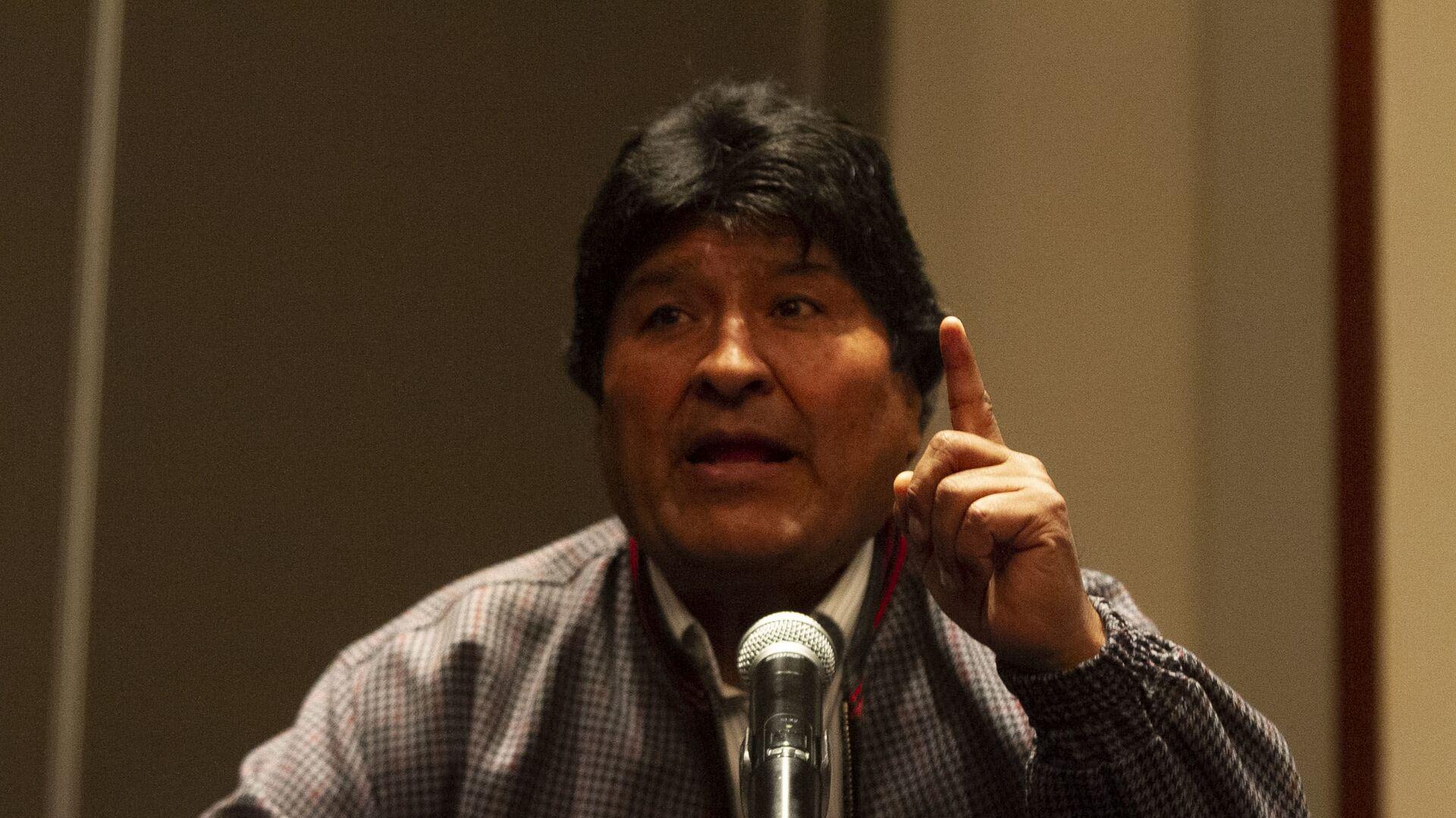 Evo Morales ofrece una rueda de prensa en la Ciudad de México, el 20 de noviembre de 2019 - Sputnik Mundo, 1920, 30.08.2021