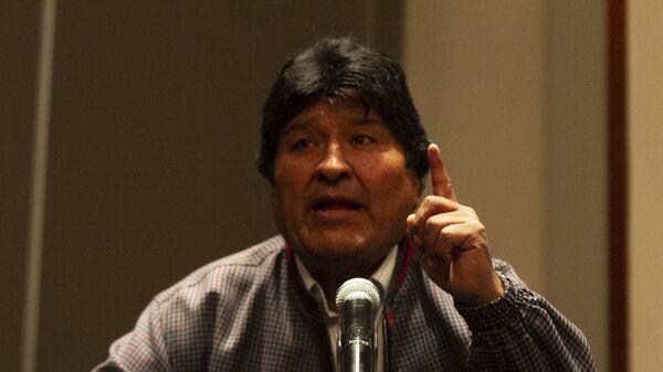 Evo Morales ofrece una rueda de prensa en la Ciudad de México, el 20 de noviembre de 2019 - Sputnik Mundo