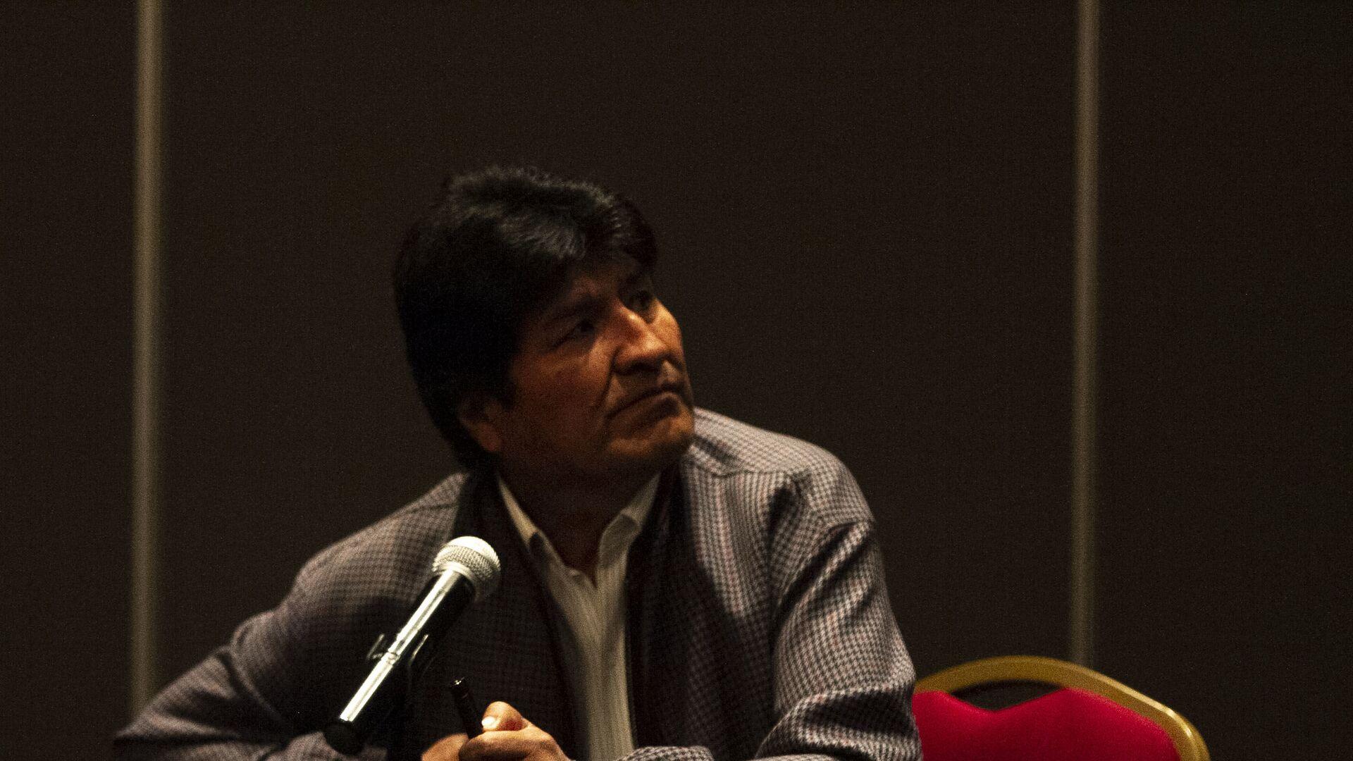 Evo Morales ofrece una rueda de prensa en la Ciudad de México, el 20 de noviembre de 2019 - Sputnik Mundo, 1920, 14.07.2021