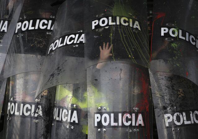 Escudos de la Policía en Colombia (archivo)