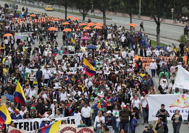 Las protestas durante el paro nacional en Colombia (archivo)