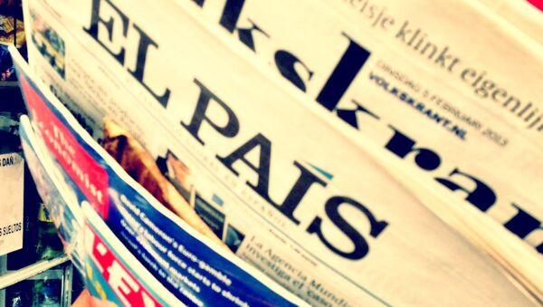 Portada de El País - Sputnik Mundo