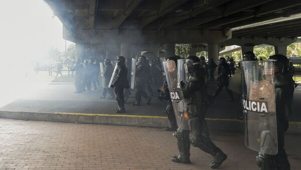 Policía colombiana (imagen referencial) - Sputnik Mundo