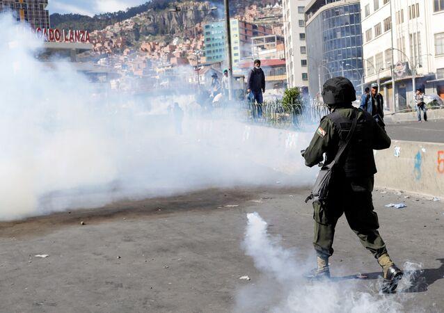 Protestas en La Paz, Bolivia