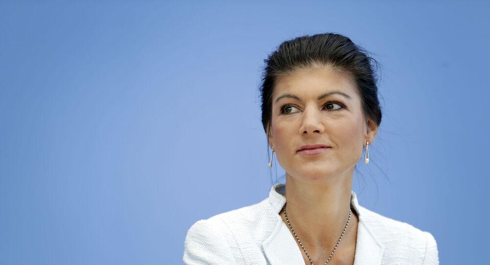 Sahra Wagenknecht, vicepresidenta del partido alemán Die Linke