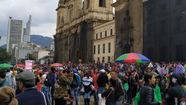 Marcha del 21N en Bogotá - Sputnik Mundo