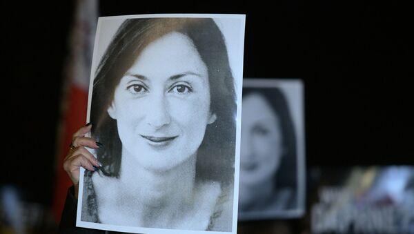 Un retrato de Daphne Caruana Galizia, la periodista maltesa asesinada - Sputnik Mundo
