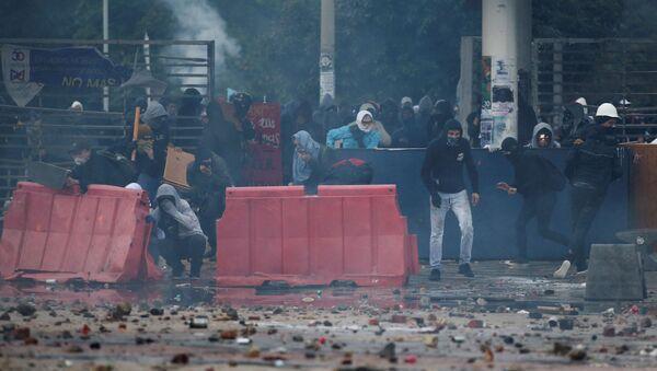 Protestas antigubernamentales en Colombia - Sputnik Mundo
