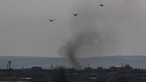 Humo en Siria (archivo) - Sputnik Mundo